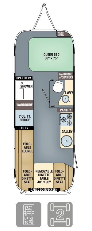Airstream Eddie Bauer 25FB Floor Plan
