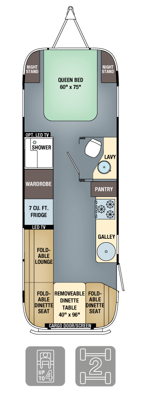 Airstream Eddie Bauer 27FB Floor Plan