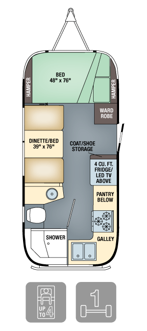 Airstream Flying Cloud 20 Floor Plan