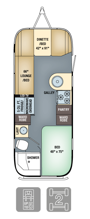 Airstream Flying Cloud 23D Floor Plan