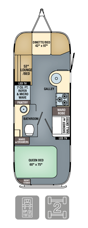 Airstream Flying Cloud 25 Floor Plan