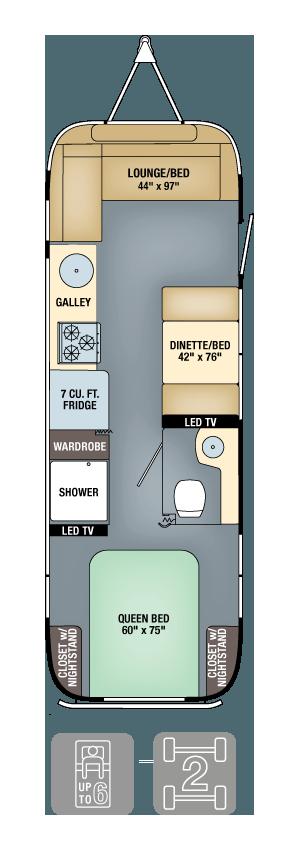 Airstream Flying Cloud 28 Floor Plan