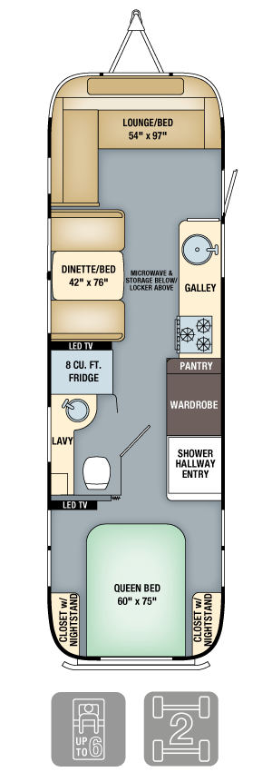 Airstream Flying Cloud 30 Floor Plan
