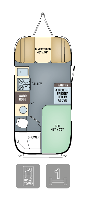 Airstream Interanational Serenity 19 Floor Plan