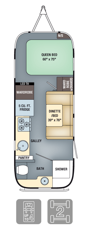 Airstream Interanational Serenity 23FB Floor Plan