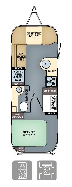 Airstream Interanational Serenity 25 Floor Plan