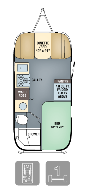 Airstream Interanational Signature 19 Floor Plan