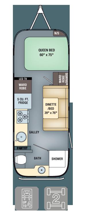 Airstream Interanational Signature 23FB Floor Plan