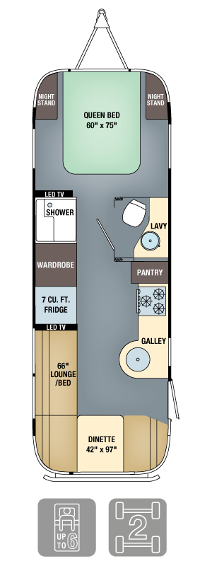 Airstream Interanational Signature 27FB Floor Plan