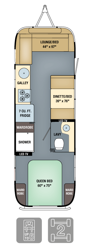 Airstream Interanational Signature 28 Floor Plan