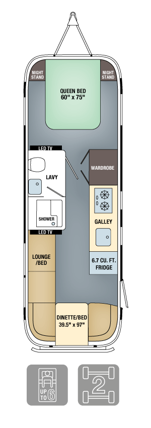 Airstream Land Yacht Floor Plan