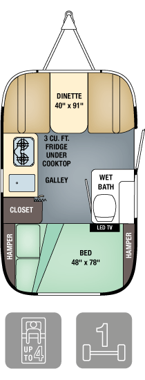 Airstream Sport 16 Floor Plan