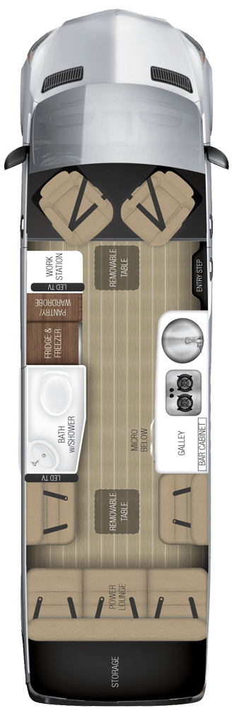 Airstream Interstate Lounge EXT with wardrobe Floor Plan