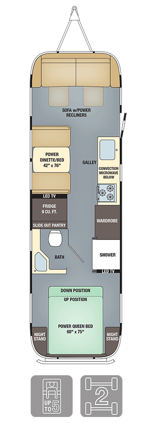 Airstream Classic 30 Floor Plan