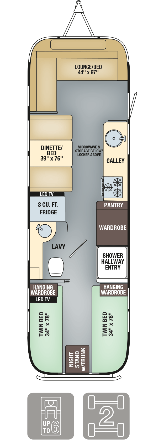 Airstream Interanational Serenity 30 Twin Floor Plan