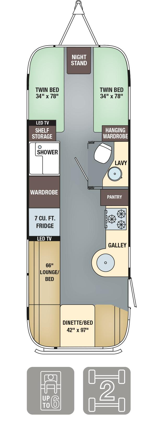 Airstream Interanational Signature 27FB Floor Plan