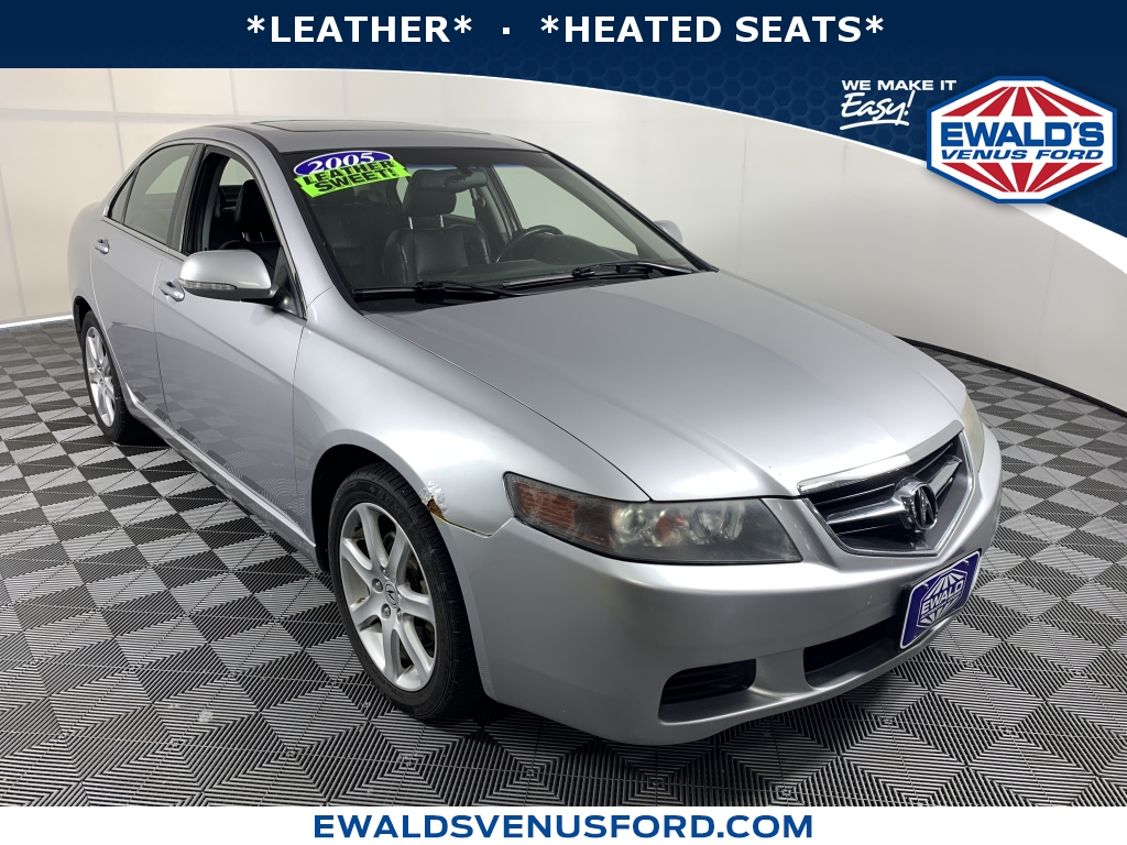 2005 Acura TSX 4dr Sdn AT Silver DESIRABLE FEATURES LEATHER HTD SEATS HID HEADLAMPSAUTO