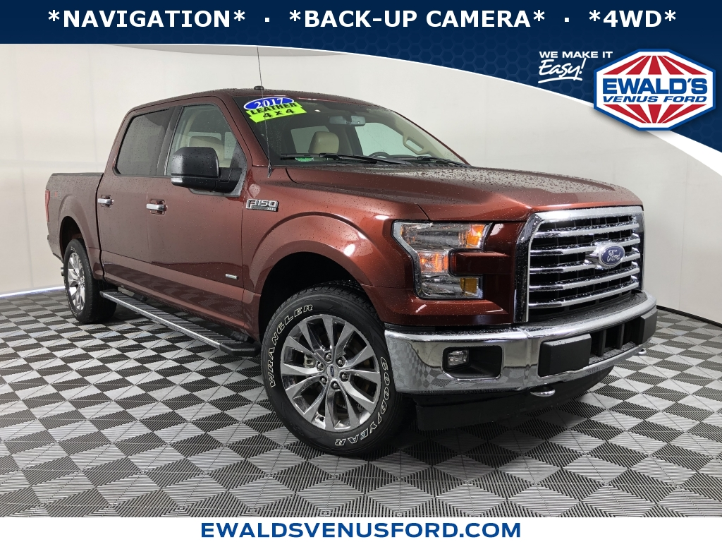 2017 Ford F-150 XLT Brown DESIRABLE FEATURES 4WD NAVIGATION BACK-UP CAMERA REMOTE START