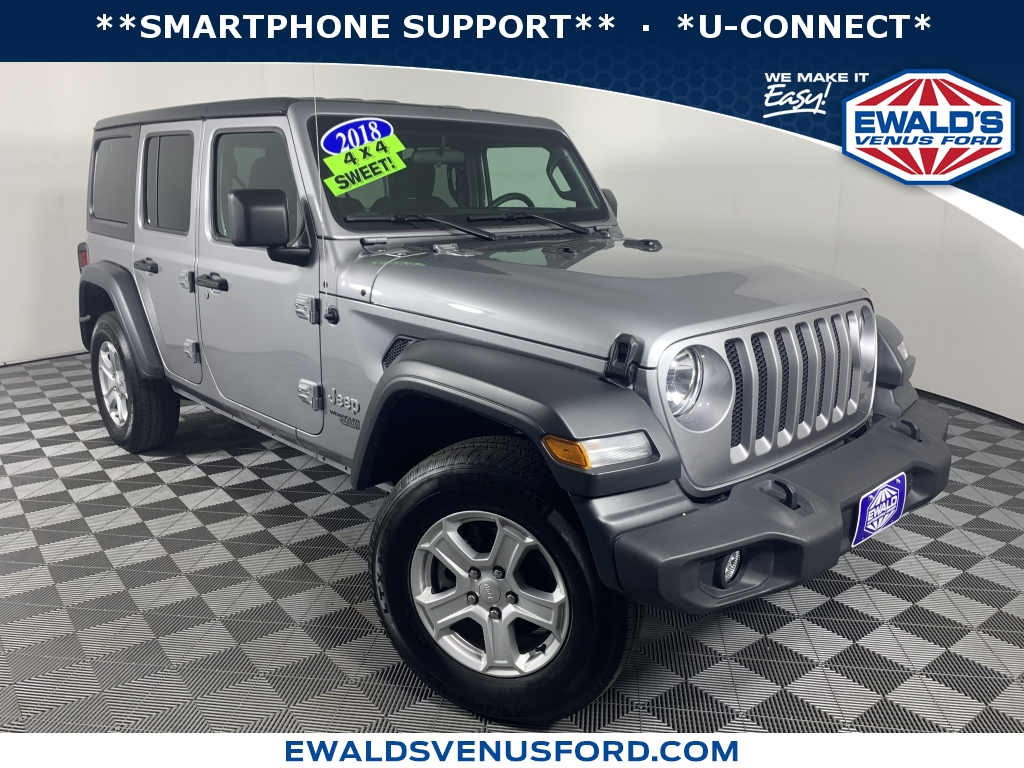 2018 Jeep Wrangler Unlimited Sport S Silver DESIRABLE FEATURES SMARTPHONE SUPPORT U-CONNECT