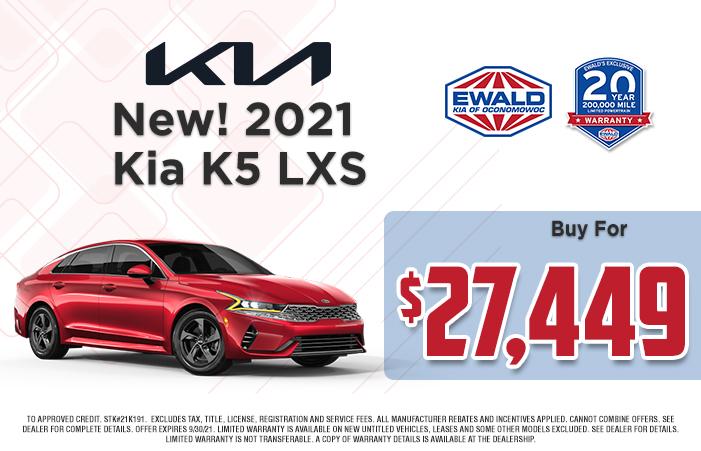 Kia K5 LXS Offer