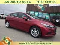 Used, 2017 Chevrolet Cruze Hatchback 4dr HB 1.4L LT w/1SD FWD, Red, 30794-1