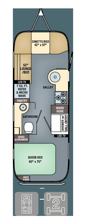 Airstream Flying Cloud 25 Floor Plan