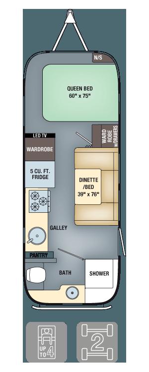 Airstream Interanational Serenity 23FB Floor Plan