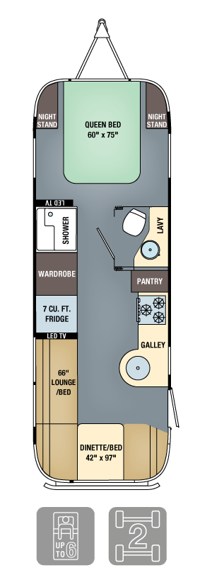Airstream Interanational Serenity 27FB Floor Plan
