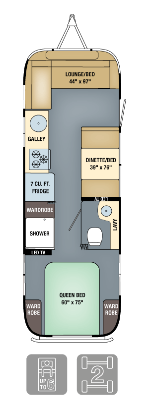 Airstream Interanational Serenity 28 Floor Plan