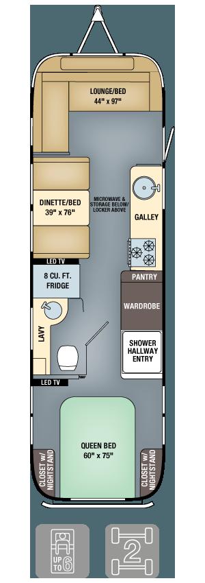 Airstream Interanational Serenity 30 Floor Plan