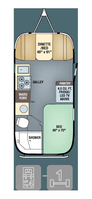 Airstream Interanational Signature 19 Floor Plan