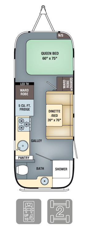 Airstream Interanational Signature 23FB Floor Plan