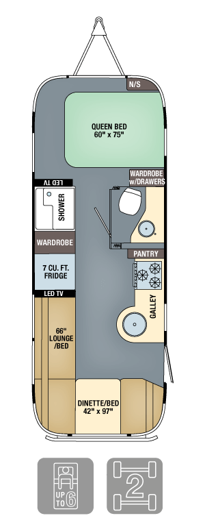 Airstream Interanational Signature 25FB Floor Plan