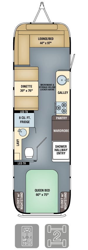 Airstream Interanational Signature 30 Floor Plan
