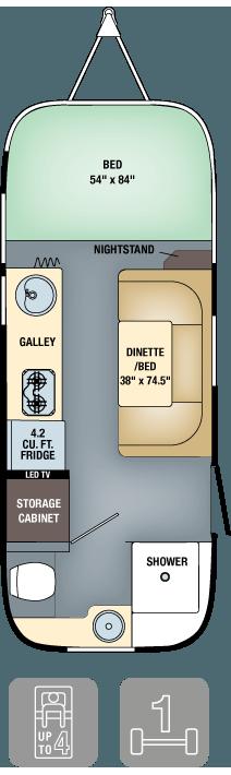 Airstream Sport 16 Floor Plan