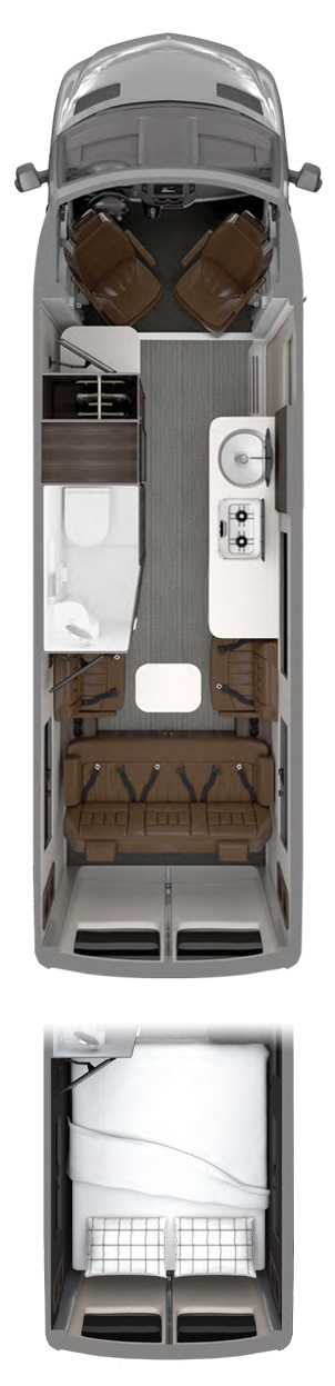 2020 Airstream Interstate Grand Tour EXT Floor Plan