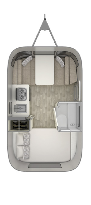 Airstream Bambi 16RB Floor Plan