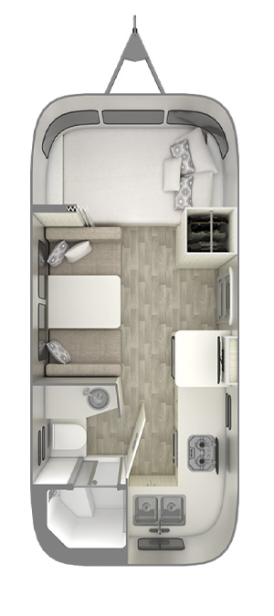 Airstream Bambi 20FB Floor Plan