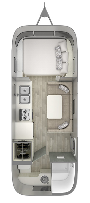 Airstream Bambi 22FB Floor Plan