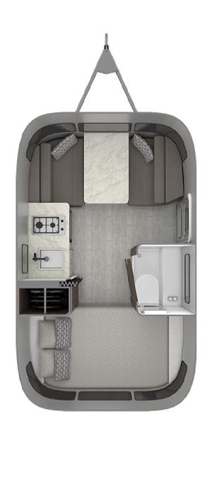 2020 Airstream Caravel 16rb Floorplan Specs