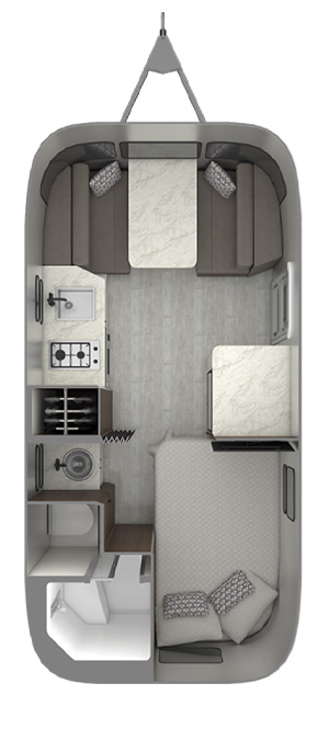 Airstream Caravel 19CB Floor Plan
