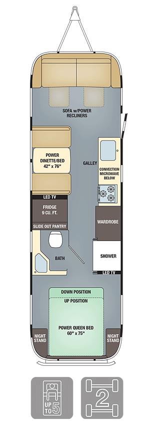 Airstream Classic 30 Floor Plan
