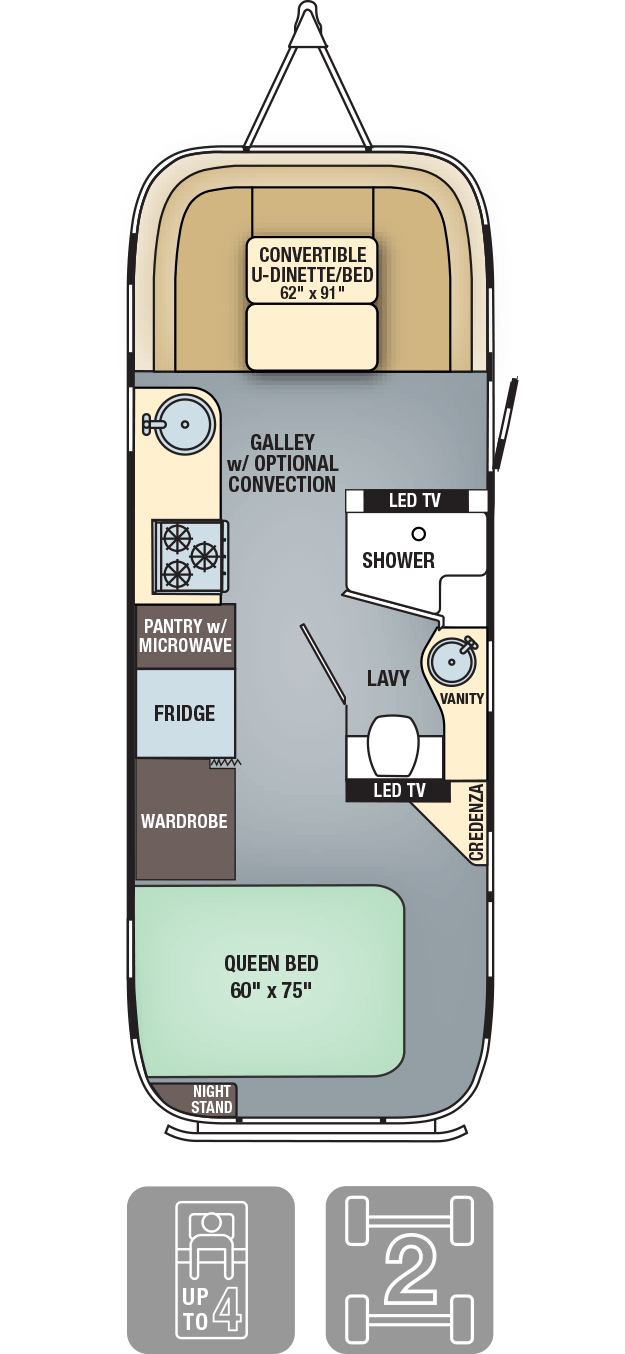 Airstream Flying Cloud 26U Floor Plan