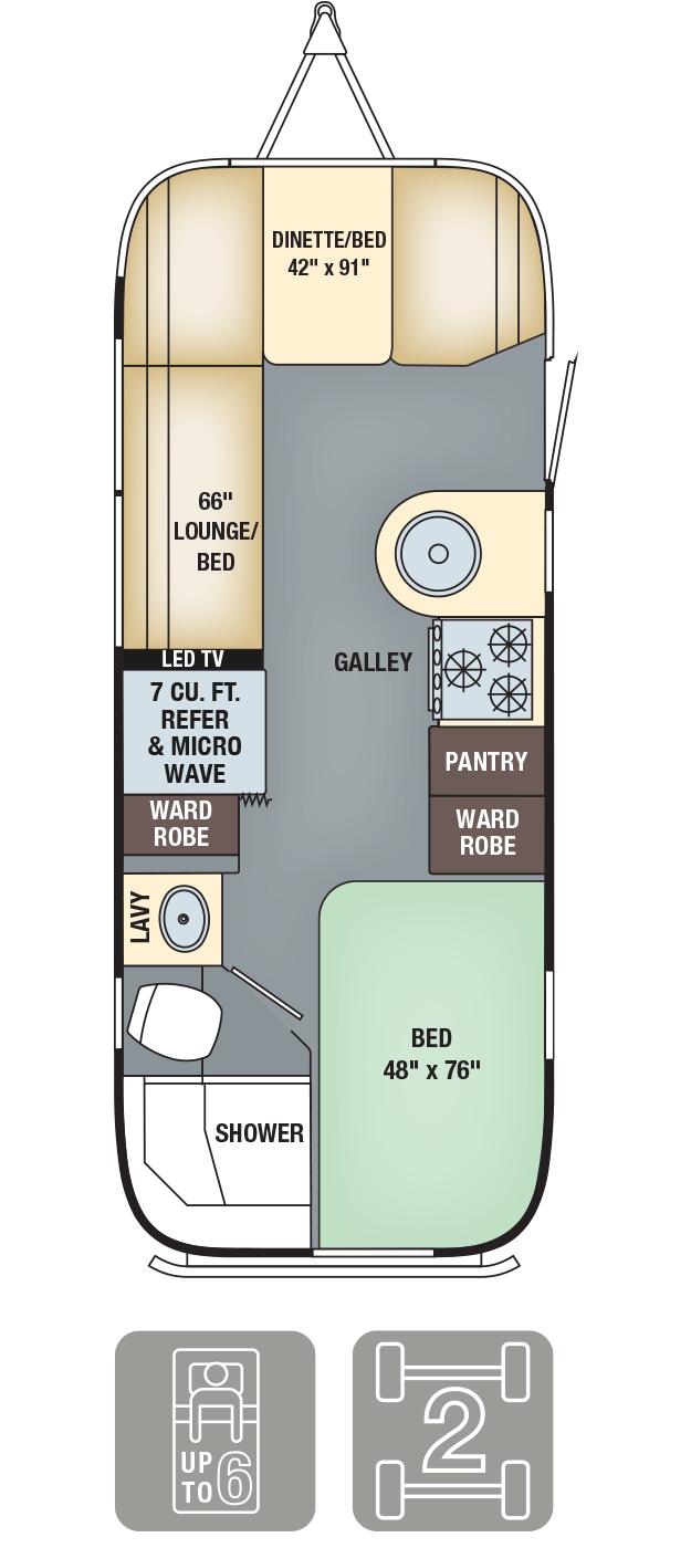 Airstream Interanational Serenity 23D Floor Plan