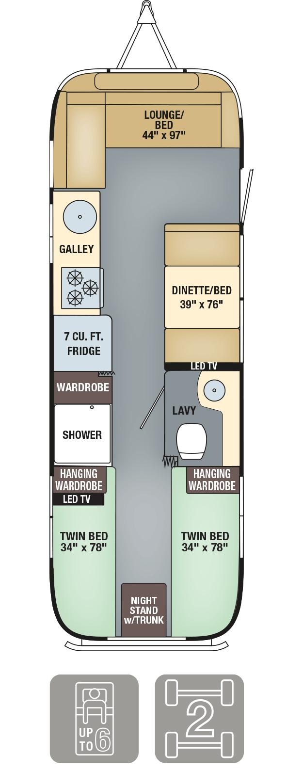 Airstream Interanational Serenity 28 Floor Plan