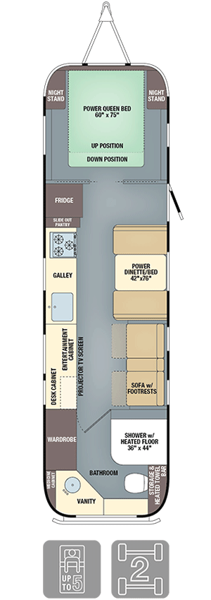 Airstream Classic 33 Floor Plan