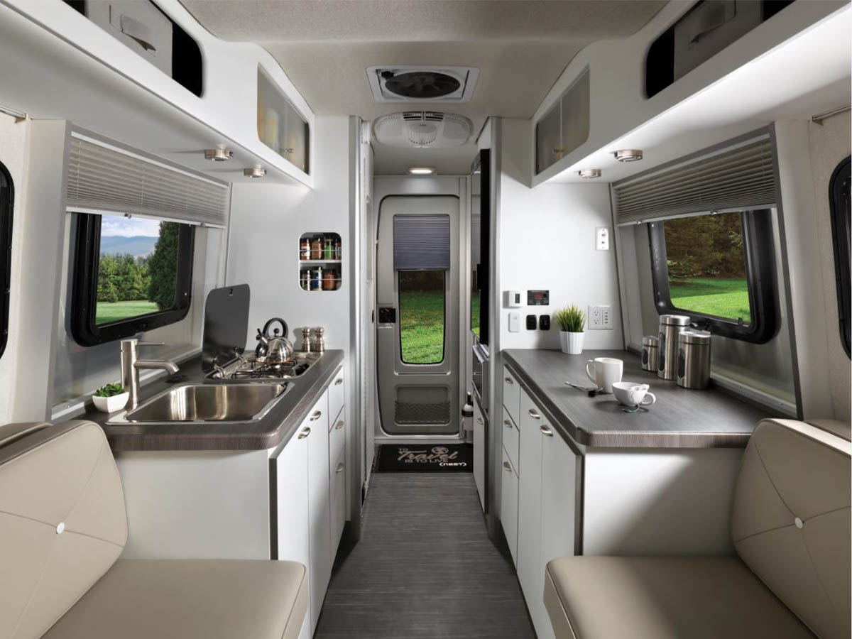 Airstream Nest Interior Front View