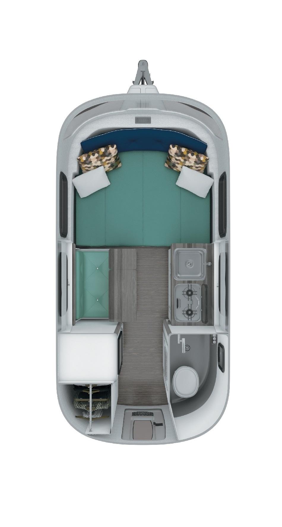 Airstream Nest 16FB Floor Plan