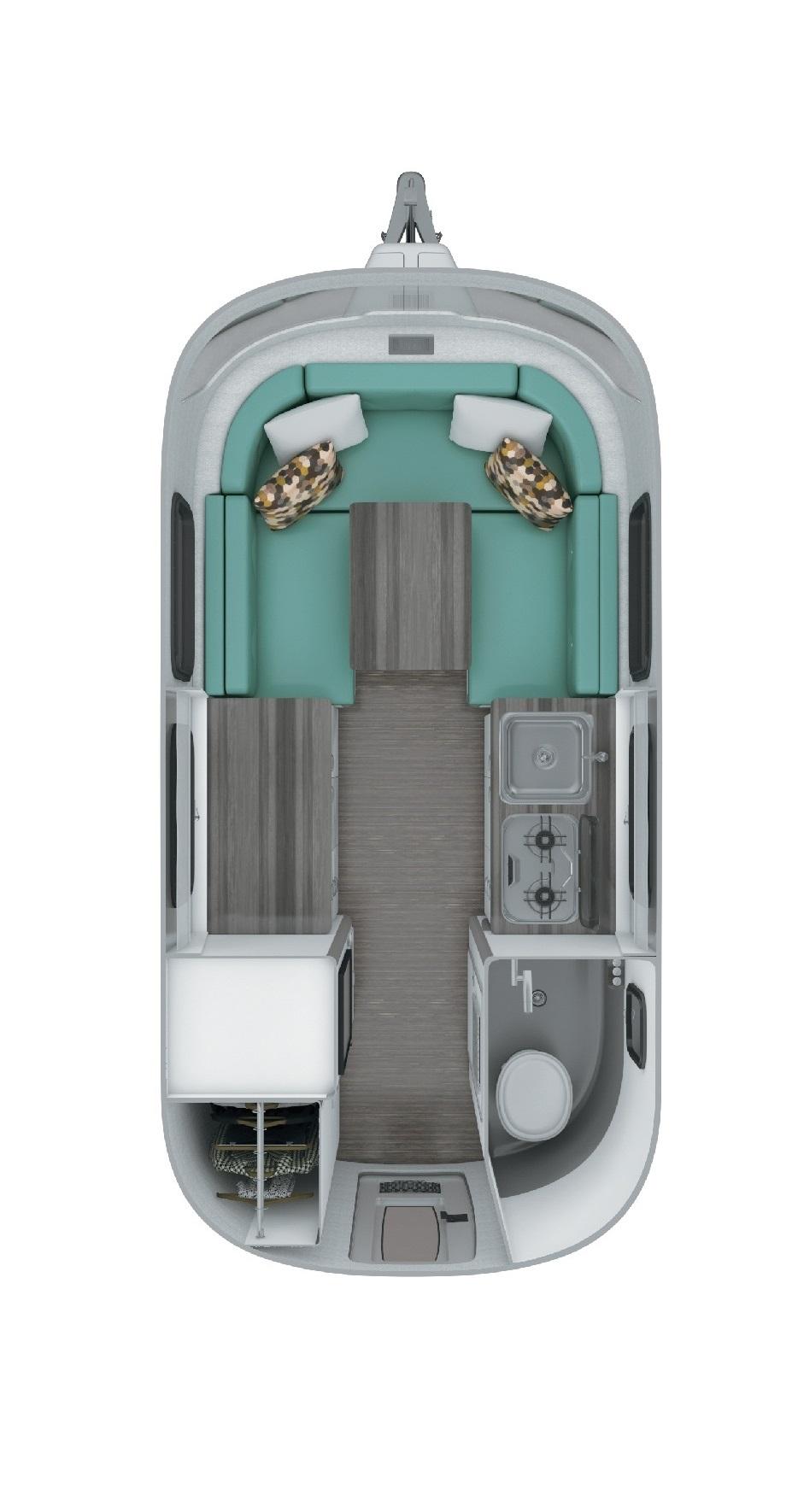 Airstream Nest 16U Floor Plan