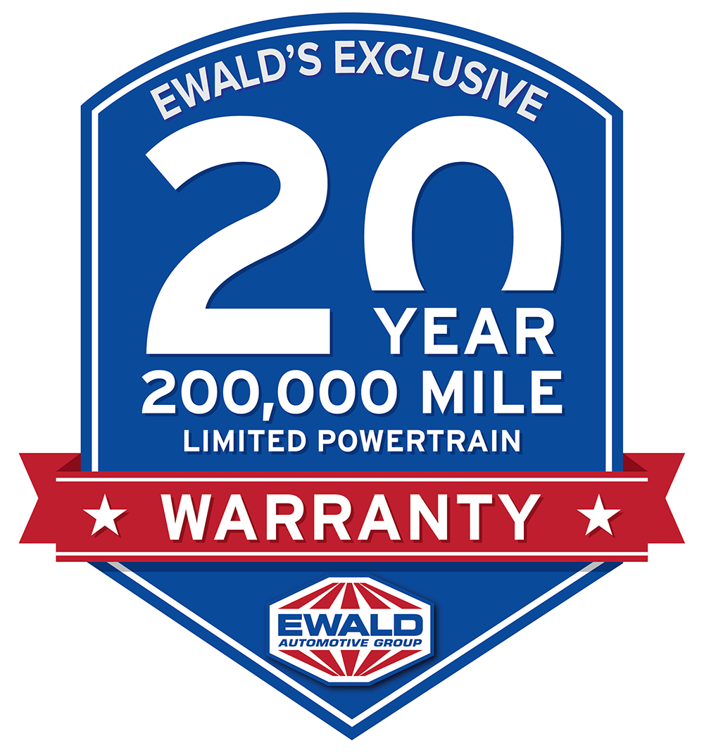 Home of the 20 Year 200,000 Mile Limited Powertrain Warranty